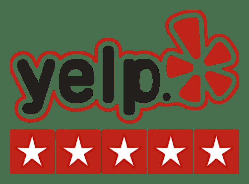 Five Stars on Yelp